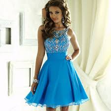 8th grade social dresses blue tight sequin homecoming dresses 2016 beaded