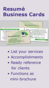 business card resume resume business cards
