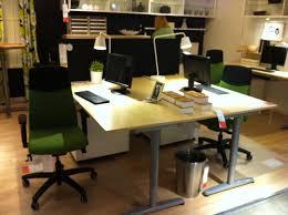 ikea galant desk back to back setup office ideas pinterest