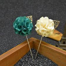 Gold Boutonniere Aliexpress Com Buy Fashion Handmade Flower Boutonniere Stick