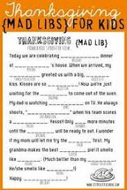 thanksgiving mad libs food fight mad libs
