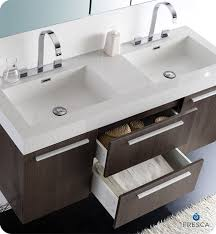 54 Bathroom Vanity Cabinet 54 U201d Fresca Opulento Fvn8013go Gray Oak Modern Double Sink