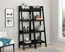 ameriwood furniture lawrence 4 shelf ladder bookcase bundle black