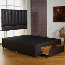 Divan Bed Frames Fast Delivery Hf4you Brown Faux Leather Bed Base Best Seller