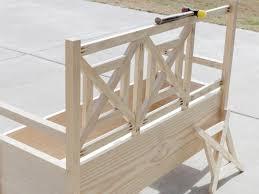 build a storage bench bench decoration