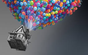 House Movies by Balloons Flying Houses Movies Selective Colors Walldevil