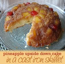 pineapple upside down cake in a cast iron skillet amanda u0027s cookin u0027