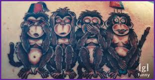 15 cool and creative monkey tattoos grease monkey guff