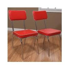 50s Dining Chairs 50s Dining Set 5 Pc Kitchen Vintage Diner Chrome Metal Table Red