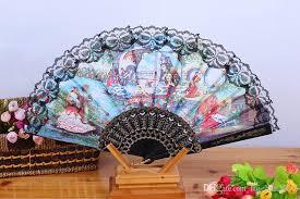 decorative fan 2017 style fan decorative design pattern wave edge
