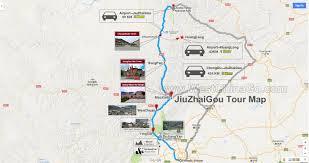 Chengdu China Map by 4 Days Jiuzhaigou Tour From Chengdu China Chengdu Panda Holding