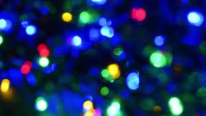 celebration lights soft focus colored lights stock