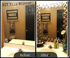 Bathroom Mirror Frames by Project Sapphire Diy Tile Mirror Holy Moly I May Be Doing This
