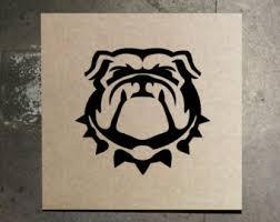Georgia Bulldog Rugs Bulldog Nail Etsy