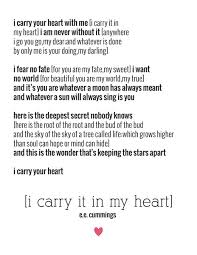 wedding quotes ee e e i carry your heart great poem ideas for