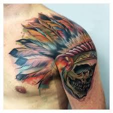 25 idéer inden for indian skull tattoos på pinterest der er oppe