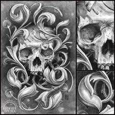 skull ornament on behance