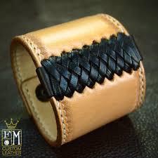 braided leather cuff bracelet images Leather wrist cuff bracelet hand hammered from freddie matara jpg