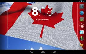 canada national flag wallpapers 3d canada flag live wallpaper android apps on google play