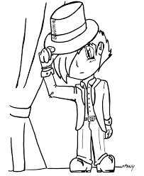 anime coloring pages boy actor anime coloring kids