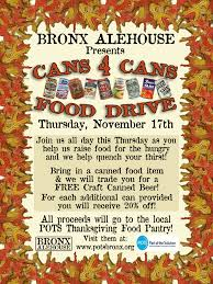 bronx ale house s can 4 can food drive looks to fill pots