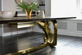 Brass Dining Table Endgrain Dining Tables