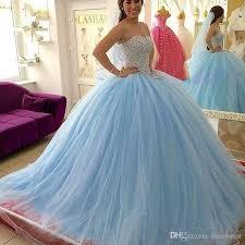 quinsea era dresses light sky blue quinceanera dresses beaded sweetheart