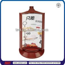 restaurant table top display stands tsd a565 factory supply rotating tabletop 3 side restaurant menu