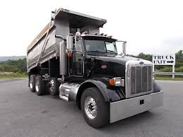 used peterbilt trucks peterbilt tri axle steel dump trucks for sale