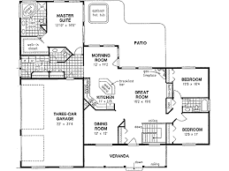 three bedroom two bath house plans ranch style house plans 2022 square home 1 3