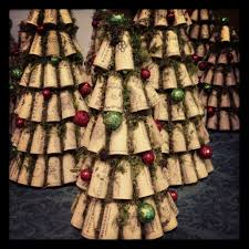 wine cork christmas trees www facebook com recorkedllc wine