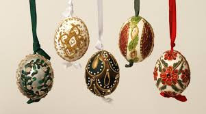 austrian painted ornaments