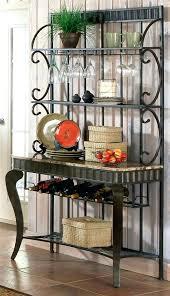 wine rack corner bakers rack with wine rack 45 off old dutch