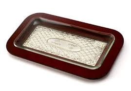 challah plates buy rectangle challah board polished wood and silver plate