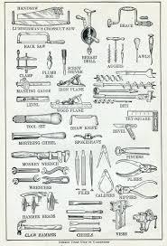 carpintero herramientas diccionario vintage print herramientas