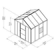 Palram Harmony 6 X 8 Palram Glory Grey 8 X 8 10mm Twinwall Glazing Palram Greenhouse