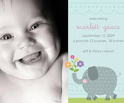 birth announcements easy to make photo birth announcements