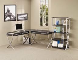 small home office 2 desks modern industrial wood metal desk