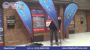 Stand Up Flag Banners Teardrop Flag Setup Instructional Video By Www Dolphiespromo Com