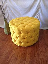 Made Ottoman by Round Tufted Ottoman Upholstered Ottoman Coffee Table Tufted
