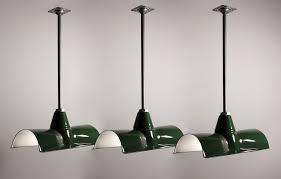 antique porcelain light fixture three matching antique green enamel porcelain industrial light
