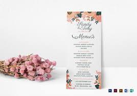 37 wedding menu template u2013 free sample example format download