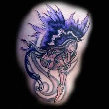 Fairy And Flower Tattoo Designs Purple Ink Fairy Tattoo Tattoo Pinterest Tattoo Images
