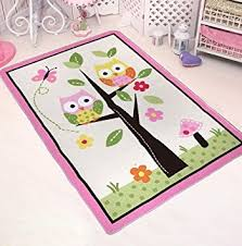 girls bedroom rugs amazon com tidetex cute owl kids bedroom rug girls bedroom play