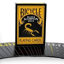 black scorpion cards mm bicycle black scorpion deck