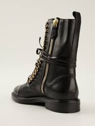 lace up motorcycle riding boots casadei rock laceup boots in black lyst