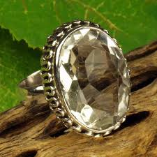 rock silver rings images Solid sterling silver crystal ring rock crystal silver ring india jpg