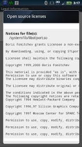 android license android license screen about phone information open
