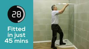 coram shower door spares how to fit a quad shower enclosure in 45 minutes youtube