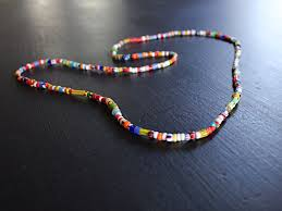 necklace beaded images Ibiza beaded necklace men 39 s glass bead necklace metal free jpg